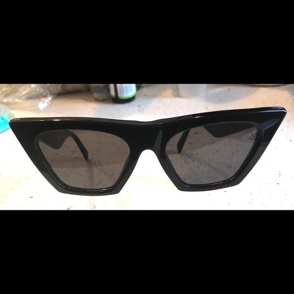 a382a4bf70 Celine Accessories - Celine Edge 41468 S Cat Eye Black Sunglasses